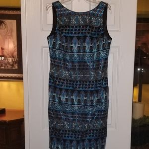 Sheath Embroidered dress
